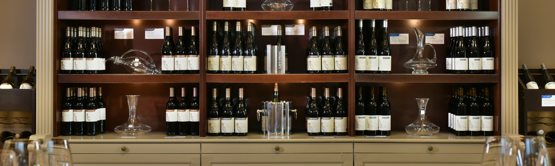 Cave Spring Wine Shop Shelf